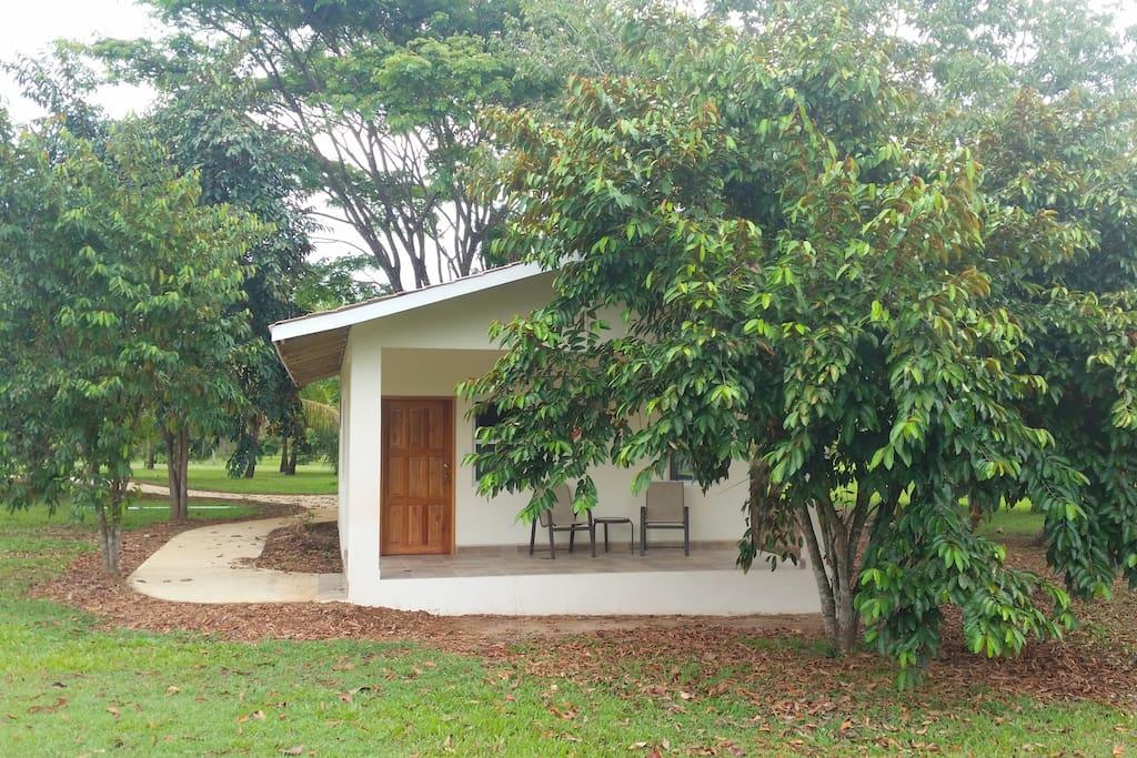 Garden cabana shady spot at Rock Farm