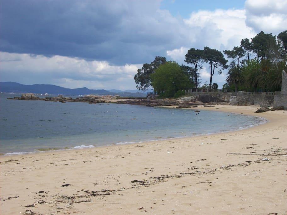 La playa a un paso