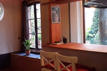 Studio sur jardin,50m ligne N - Meudon