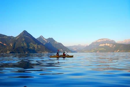 Maritime Wohnung mit Bergsicht / with free kayaks*