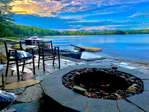 HEAVENLY NATURE RETREAT -GYM-LAKE-BONFIRE-BBQ-YARD