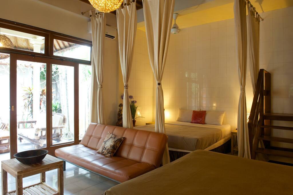 5- Large 2 BR VILLA,3 QUEEN BEDS,AC
