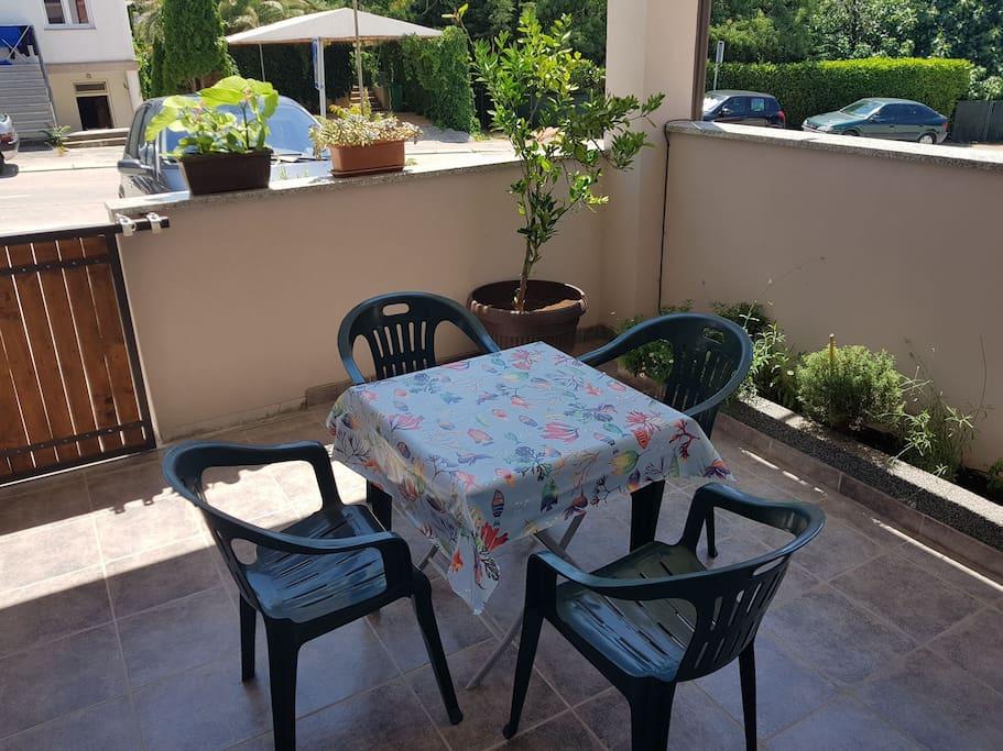 Our little green terrace