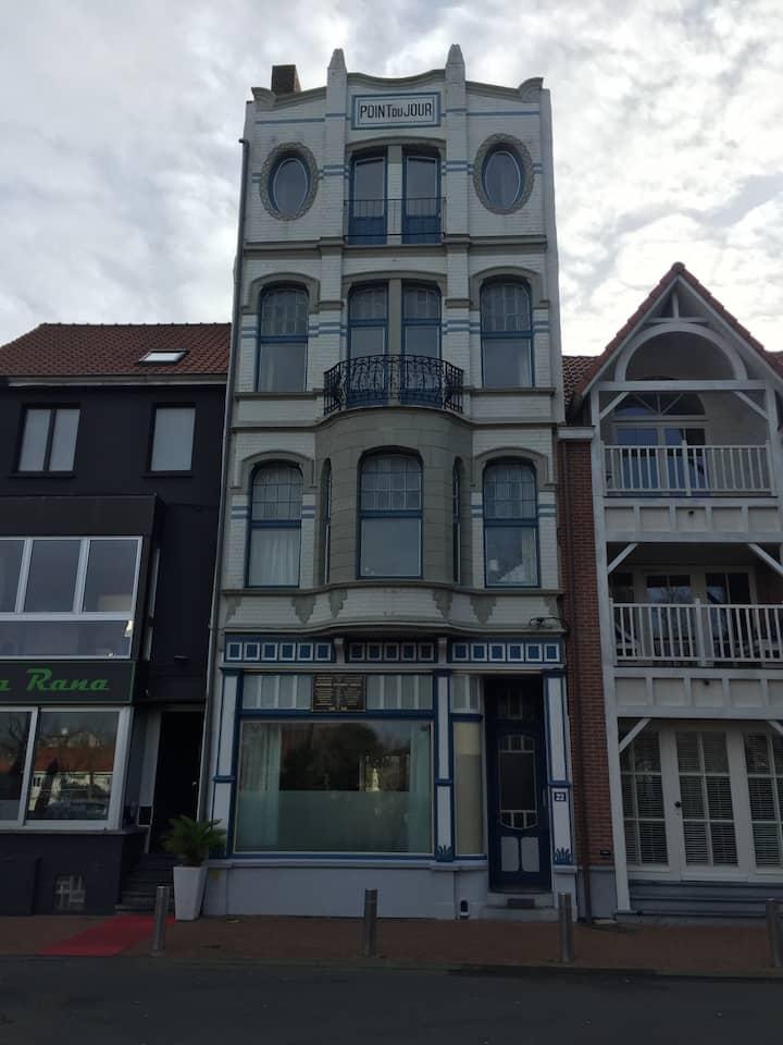 Gezellig gv appartement De Haan