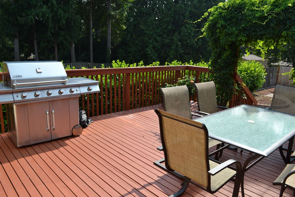 Relax and BBQ on one of the decks.