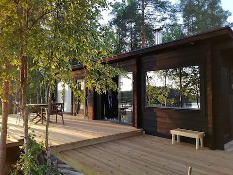 Luxus Sauna Cottage by the lake Keitele