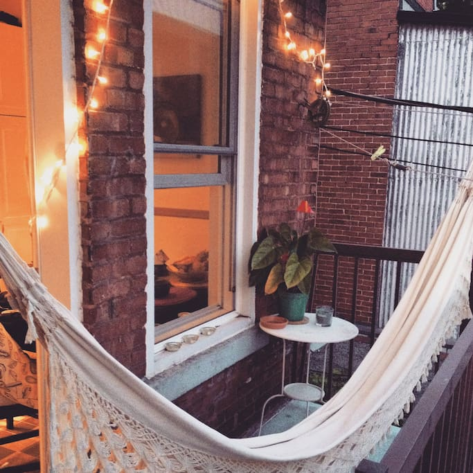 Hammock in the balcony