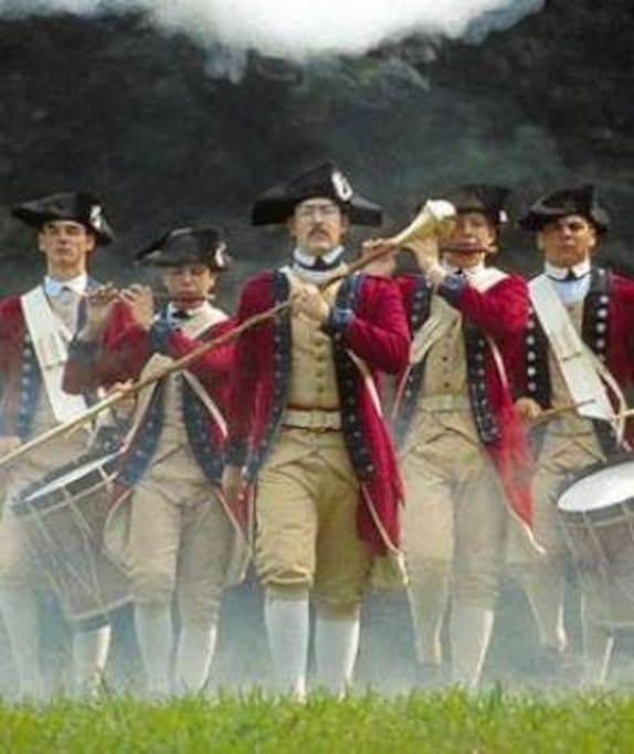 The fife and drum corps of Colonial Williamsburg is always exciting!