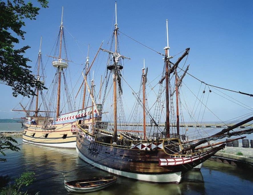 Jamestown Colony, the first English colony in the US, has restored sea vessels