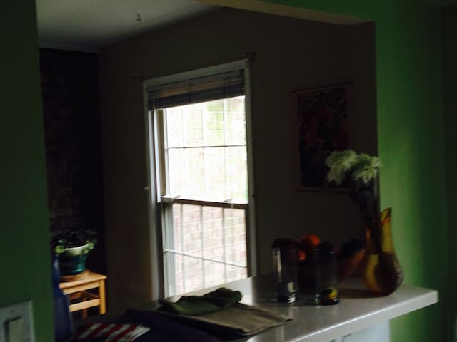 Space between kitchen and dining room