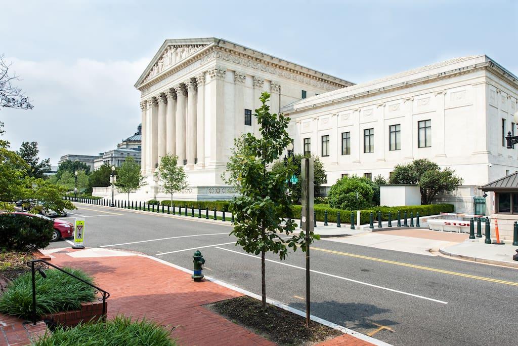 The Supreme Court directly across from you! Pic taken from the private entrance.