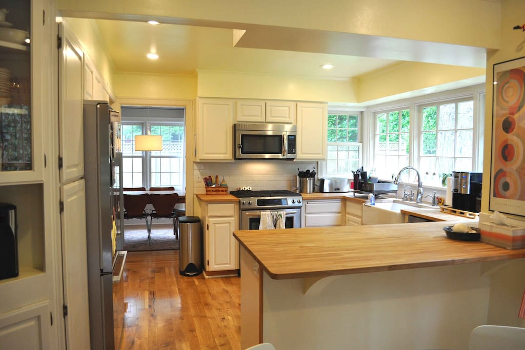 kitchen with view to formal dining area