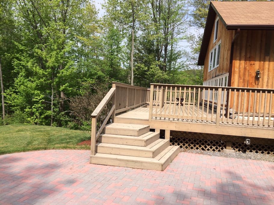 View of back patio and deck