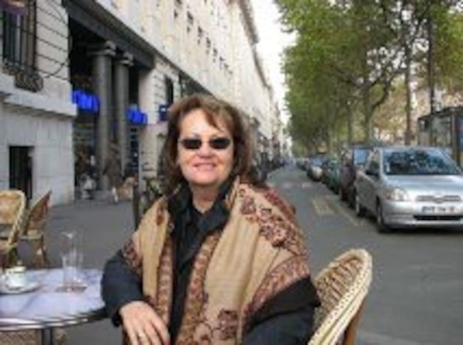 Although this picture taken of me at a cafe in Paris is outdated, it remains one of my favorite memories.