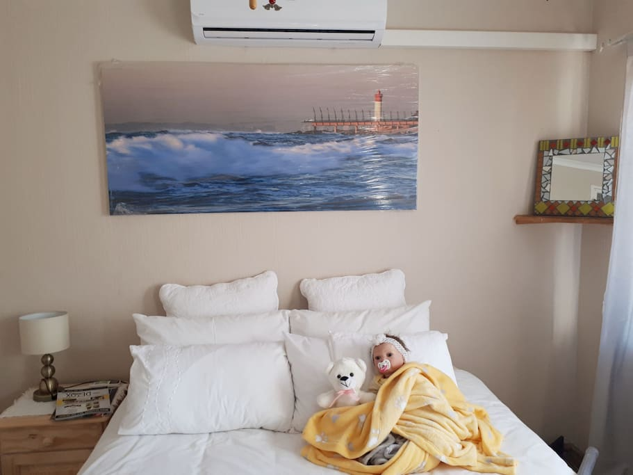 Bedroom 2 with Lien, an adorable re-born doll and Airconditioned