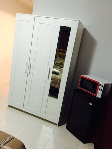 Mini fridge and a microwave available for your convinience:-)