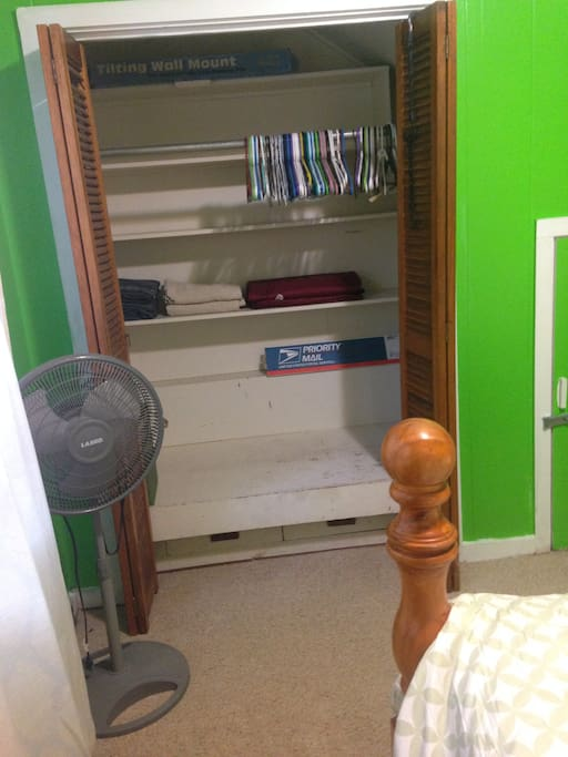 Closet and storage area