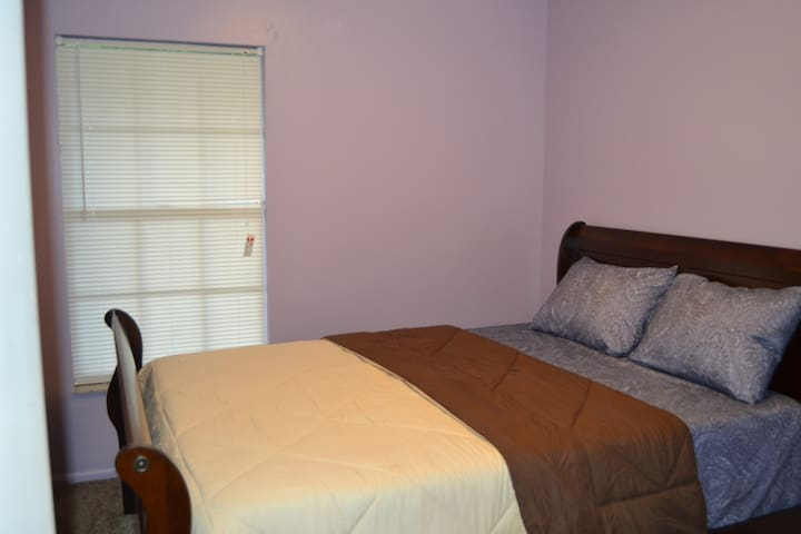Purple room, smallest closet.