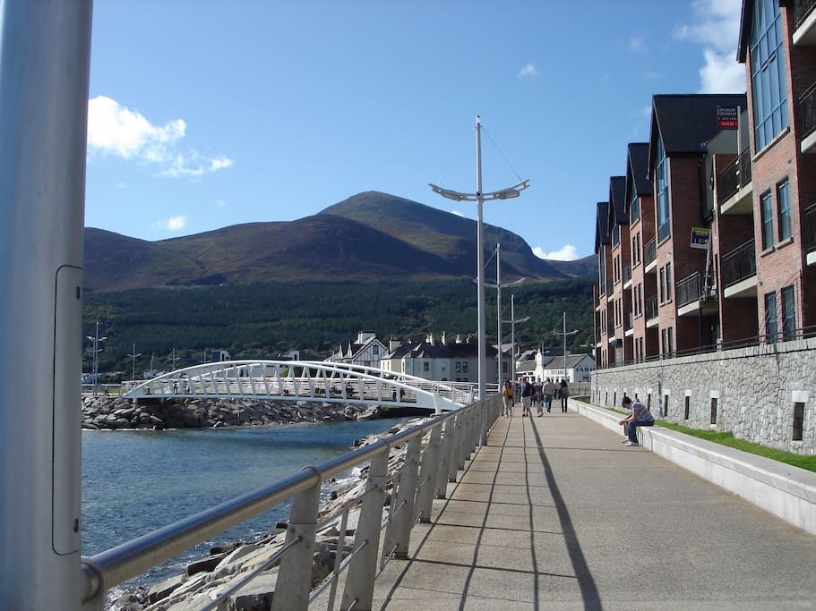 Fabulous view along the promenade along the front of the exclusive Waterfoot complex.