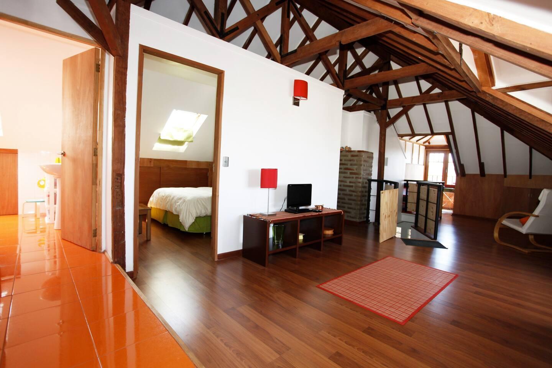 The loft, 80 square meters...