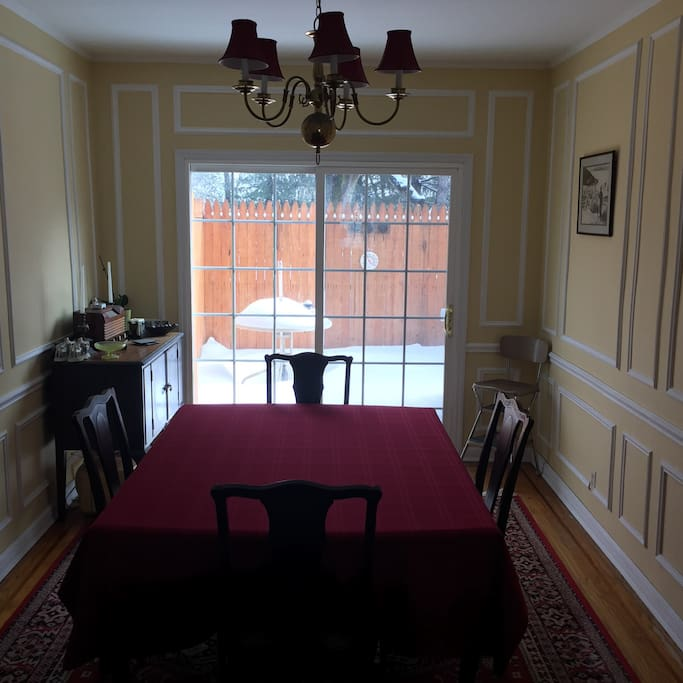 Dining Room w/ private deck.