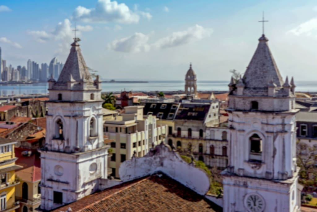 View of the new city form the Cathedral of Casco Viejo - 3 min walking from the apartment.