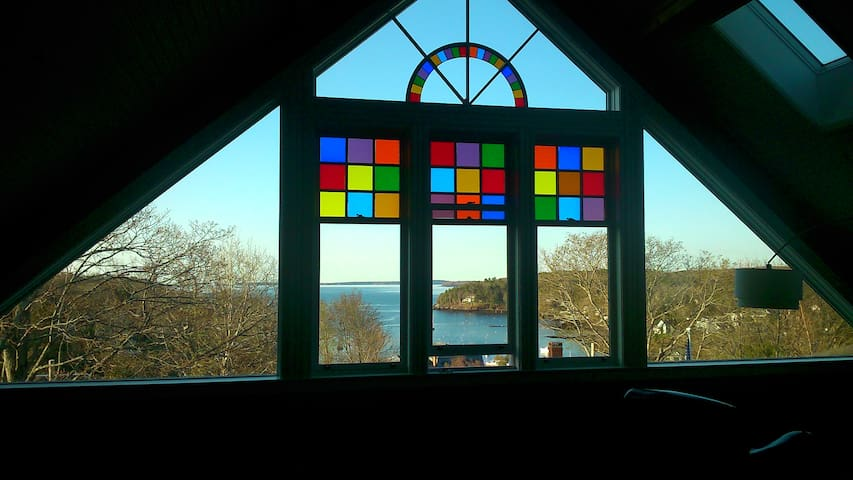 The Rockport Schoolhouse Harbour views
