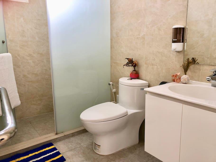 獨立衛浴空間 Separate washroom and shower room