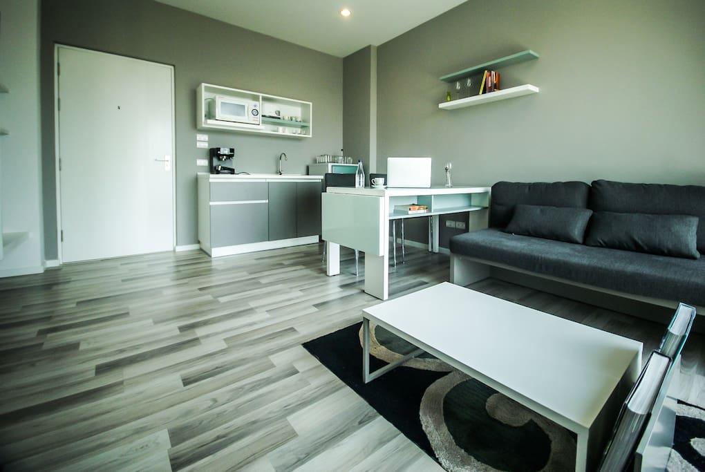 living room & kitchen  corner