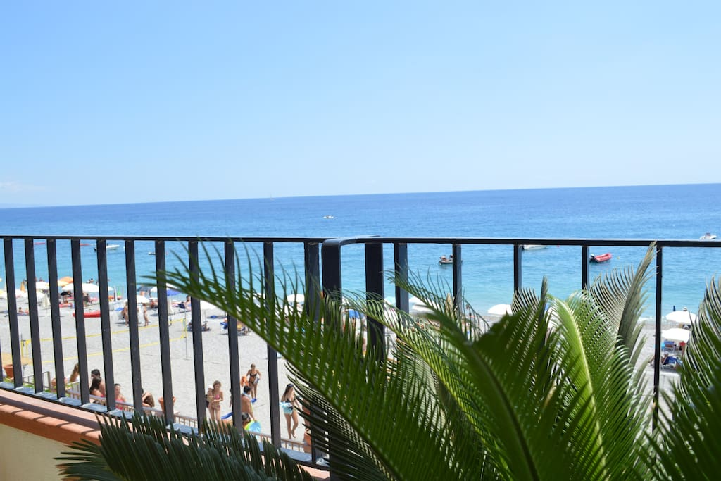 The terrace by the sea is less than 10 meters from the beach