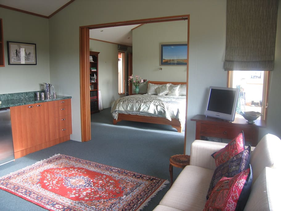 Guest Suite Sitting Room and Bedroom