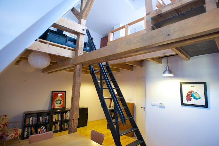 Quiet, two-storey apartment