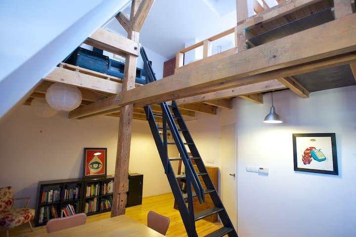 Quiet, two-storey apartment