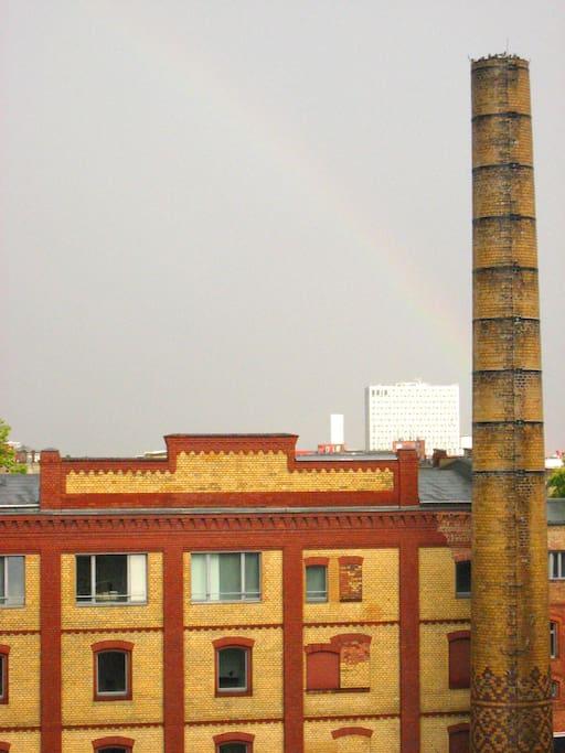 Balcony: rainbow
