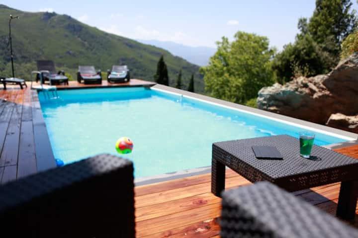 Villa Piscine pour 12 prés St Florent & Cap Corse