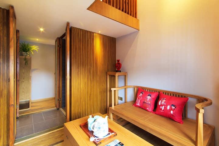 灵隐寺旁西厢待月loft大床房-----越剧《西厢记》主题房
