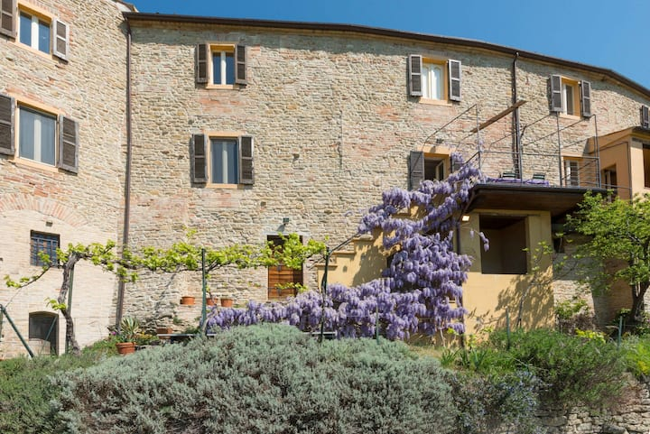 Unique restored medieval house, garden, pool, view