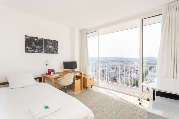 Room with awesome view on Paris - Boulogne-Billancourt - Apartment
