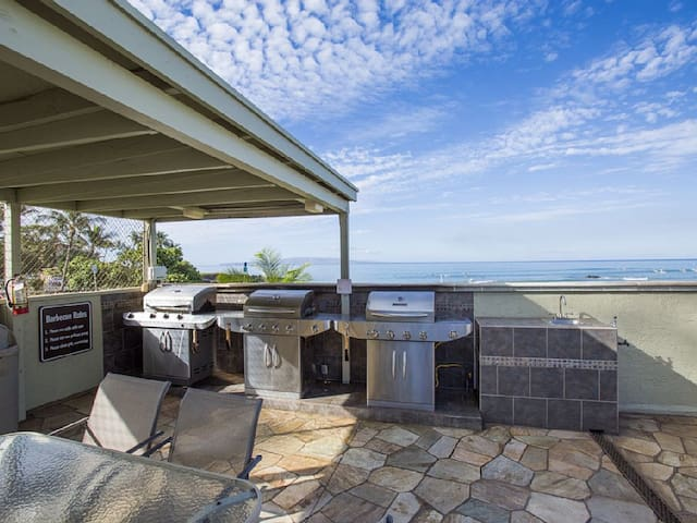 Three BBQ grills have Ocean View