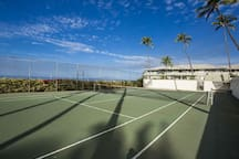 Tennis Court has an Ocean View