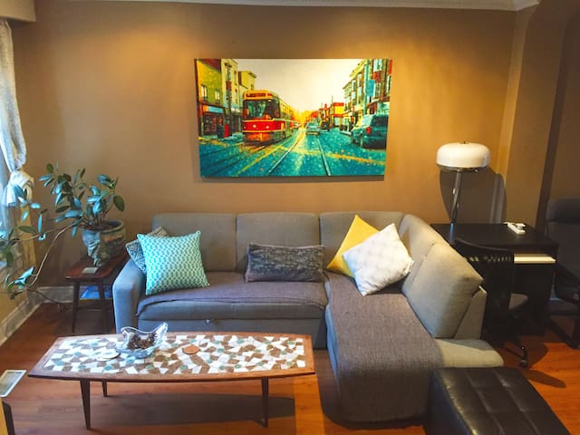 Bright, eclectic & cheerful 3bdrm