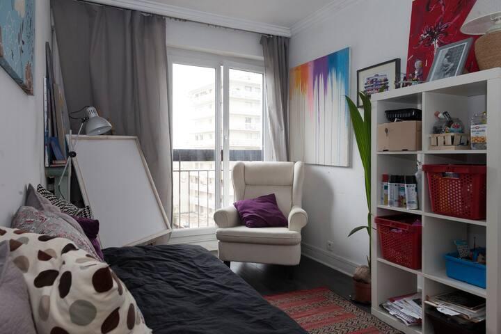chambre 2 avec un lit simple 80x200
