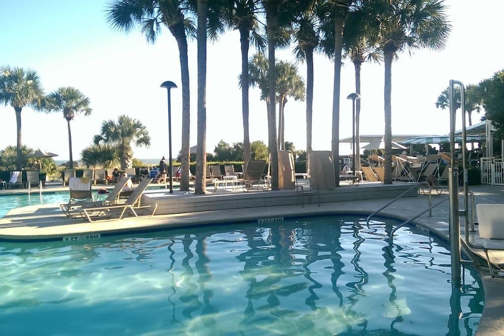 Heated Pool and Ocean side pool bar