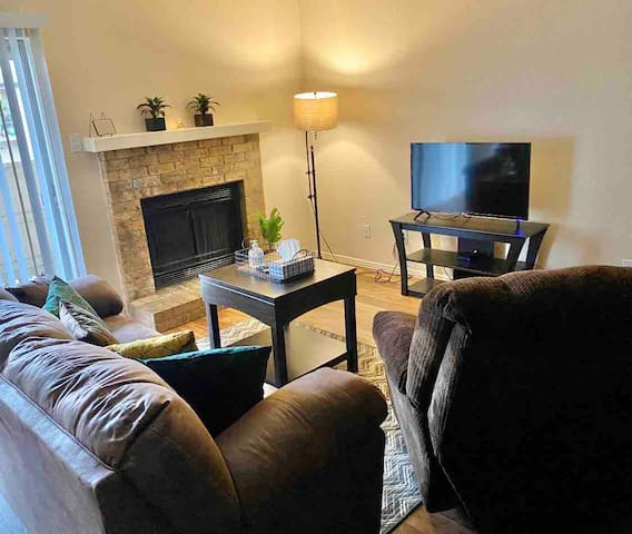 Living room with Television and comfortable sofa bed