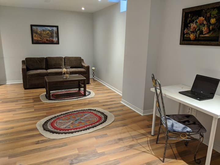Large Private 1 bedroom Basement Apartment