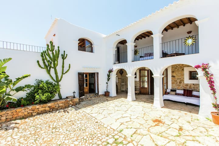 Posh Mansion on an Exclusive Island in Sant Carles de Peralta with Pool
