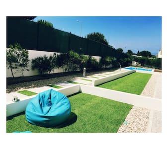 Modern garden&pool flat close to Nazare Beach 🌊🌊