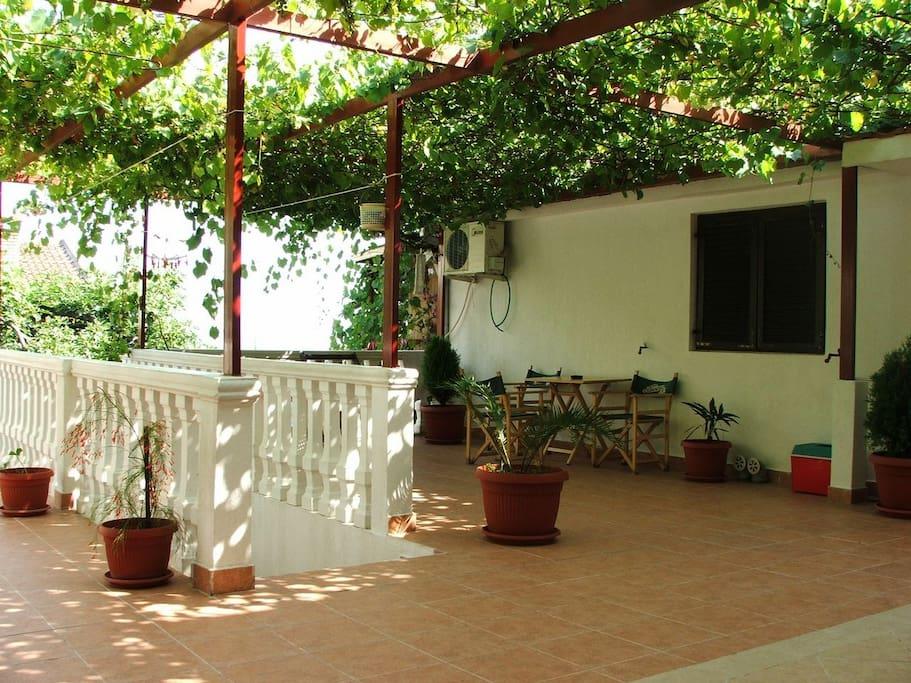 The first floor terrace