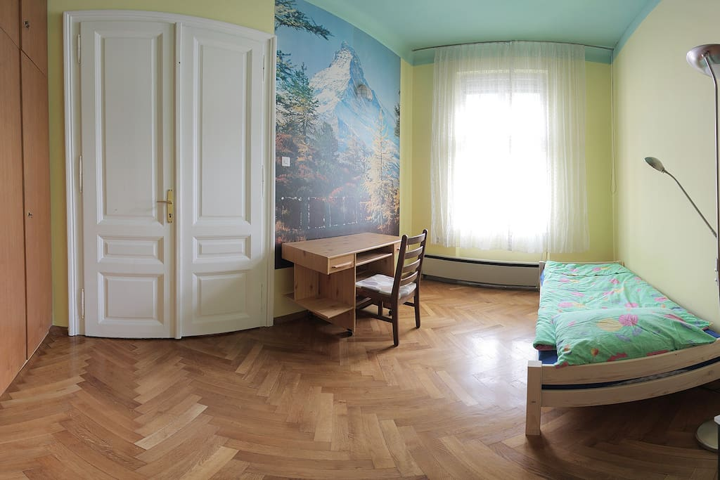 Room nr. 3, Lovely single bedroom (12 m2) with Ljubljana castle view.
