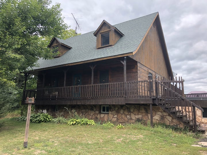 Country living near wine county in a log cabin